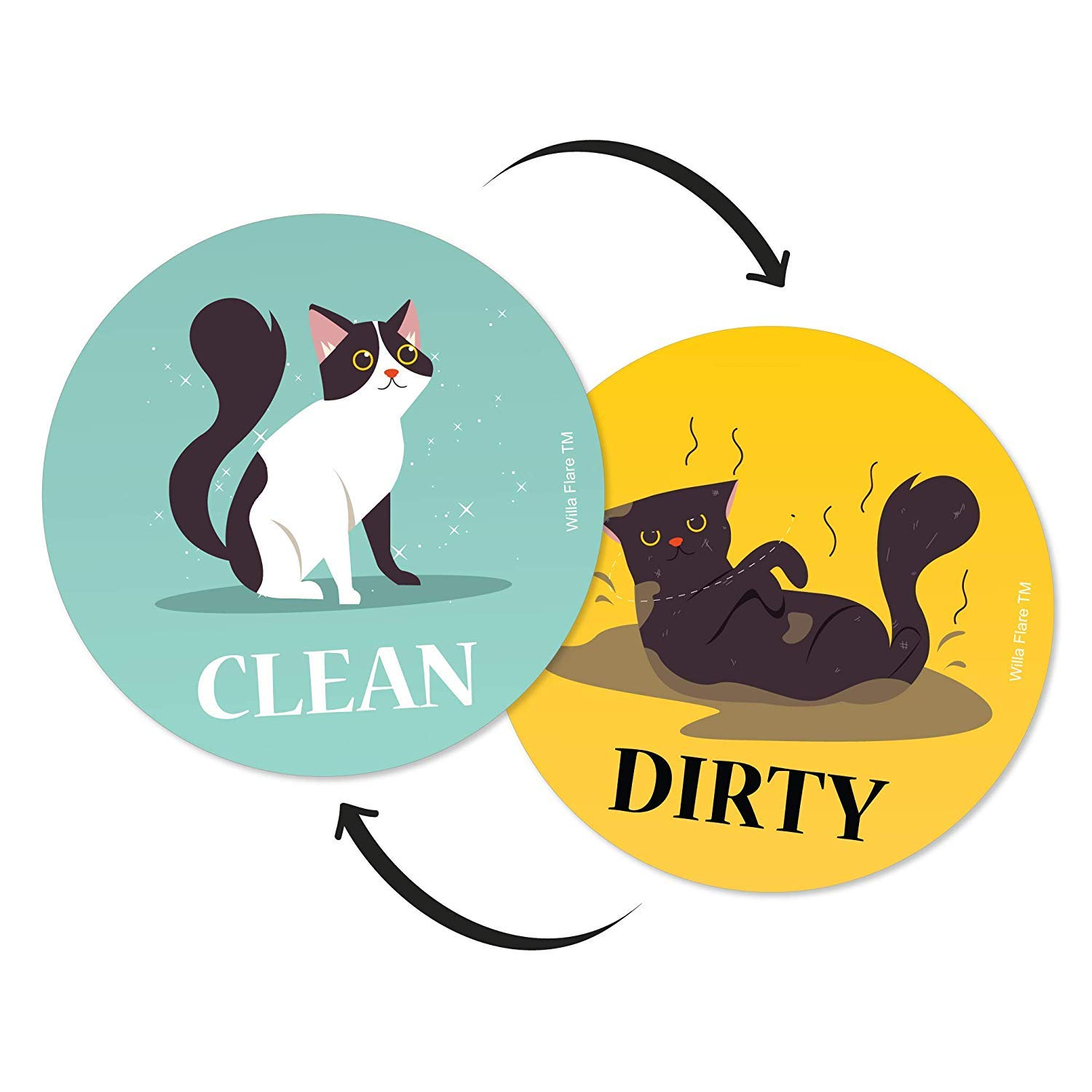 """Dish Butler Dishwasher Magnet Sign The Fun /"""" Stylish Clean Dirty Gift With 2"""